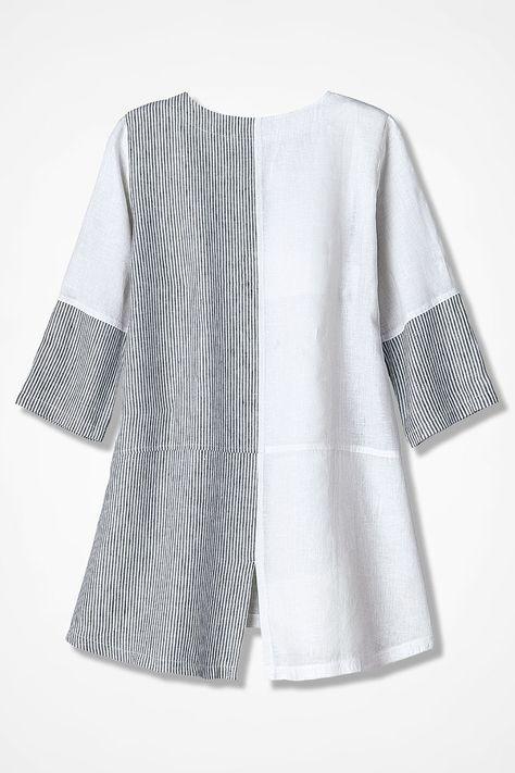 Pattern Block Linen Tunic - Coldwater Creek | выкройки одежды in ...