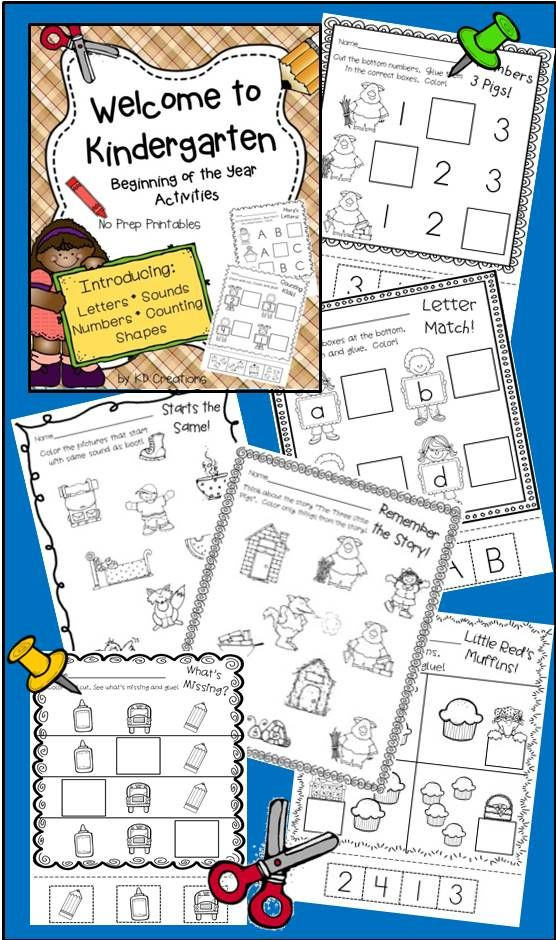 Letter and numbers and Kindergarten! Beginning of the year printables for your new learners!