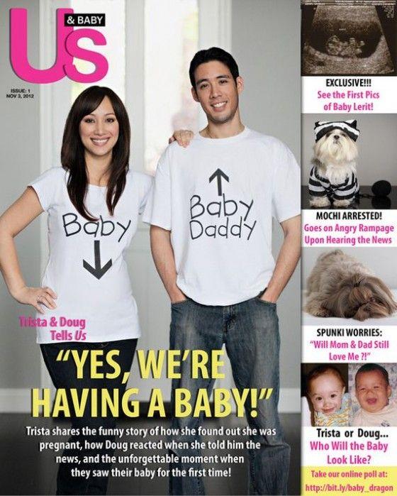 T-Shirt > zo vertellen papa en mama dat ze een baby verwachten