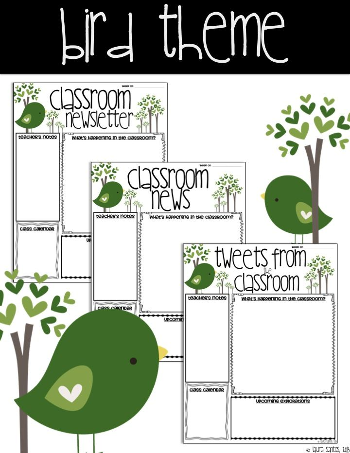 Classroom Decor Templates ~ Ideas about bird theme on pinterest bulletin