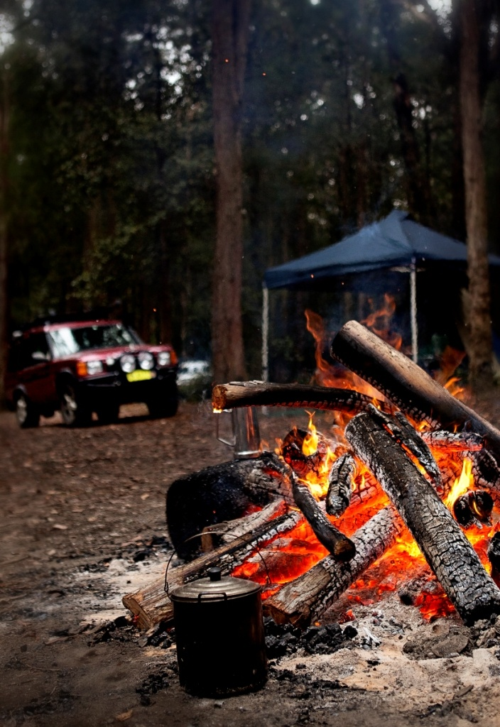 Camping! Olney State Forest, Watagan Mountains, NSW, Australia. Photo: Andrea Buschner for Forests NSW.