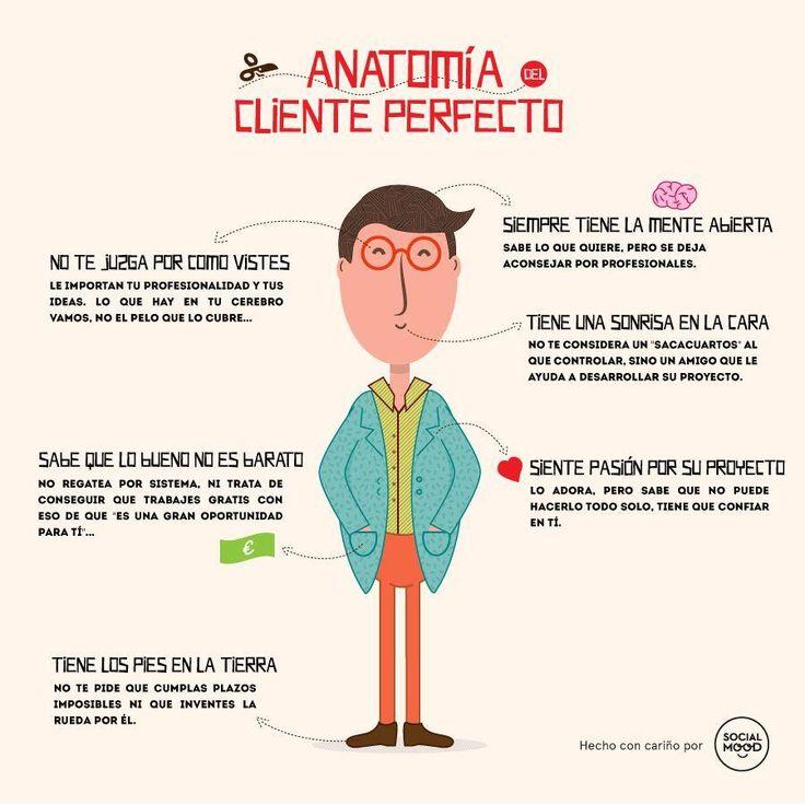 Anatomía de una cliente perfecto #infografia #infographic #marketing