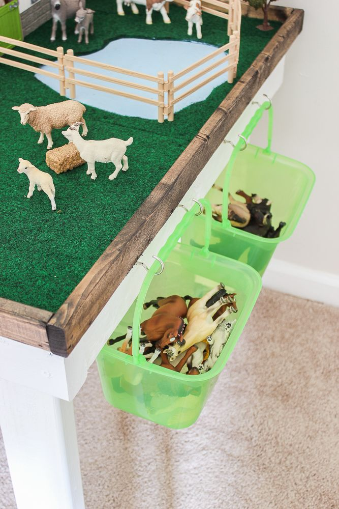 Diy Kids Play Table With Storage Furniture