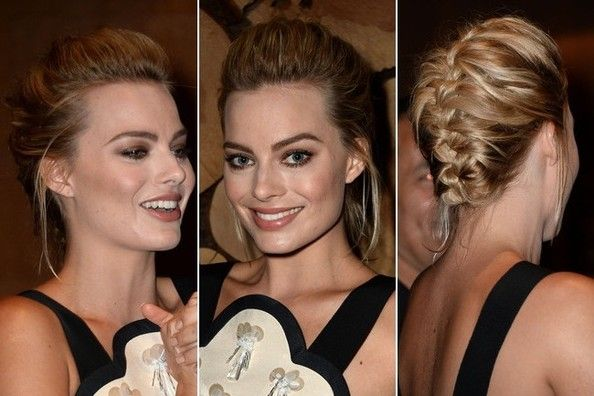 The New Age French Braid Updo: Actress Margot Robbie Shows Us How It's Done - Hair Ideas - StyleBistro