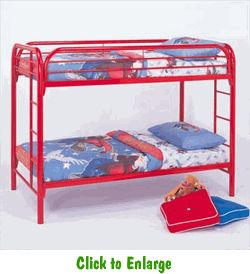 twintwin metal bunk bed available in 3 colors at furniture warehouse