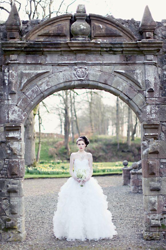 Fine Art Wedding Photography – Bridal Elegance at Rowallan Castle, Scotland…