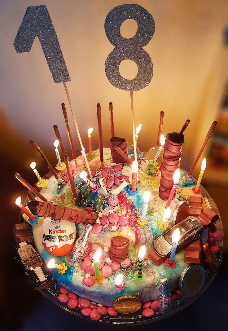 Geburtstagstorte – Geburtstagstorte für Jungen zum 18. Geburtstag   – DIY aus der Küche