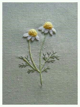 Stitched daisies