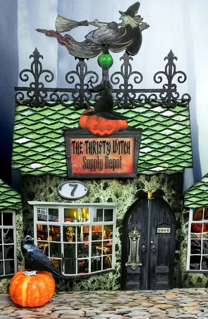 Artfully Musing: Halloween Haunted Village Event 2015 - the Thrifty Witch - front