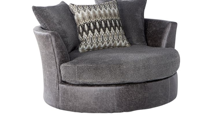 Chairs rooms to go skyline drive gray swivel chair