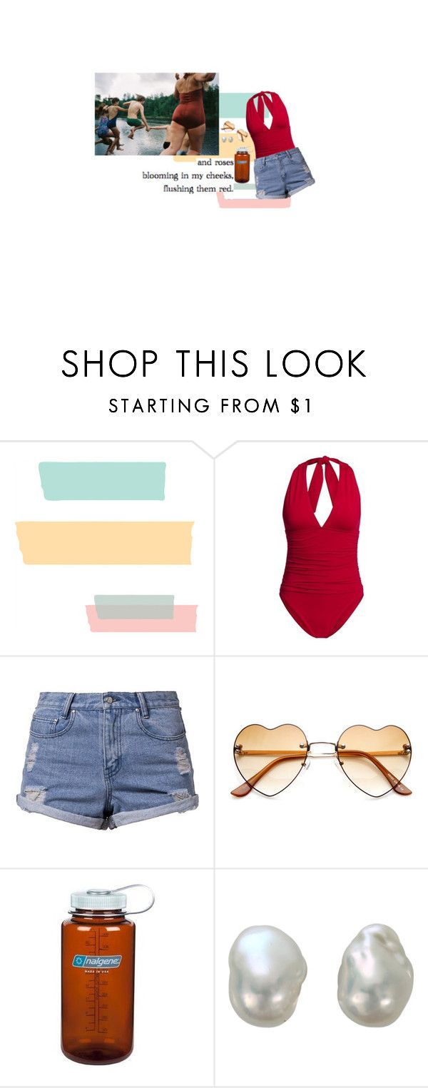 """outlet"" by greenisthenewgirl ❤ liked on Polyvore featuring Canvas by Lands' End, Somedays Lovin, Nalgene and Yvel"