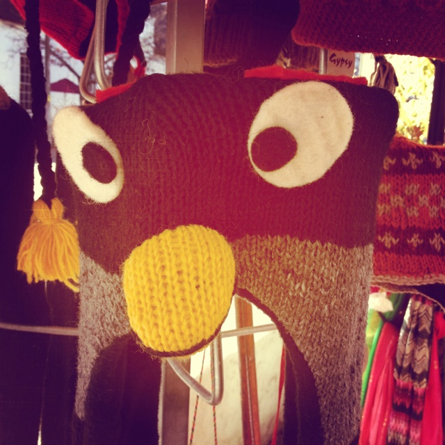 Angry birds beanie at Gypsy store.