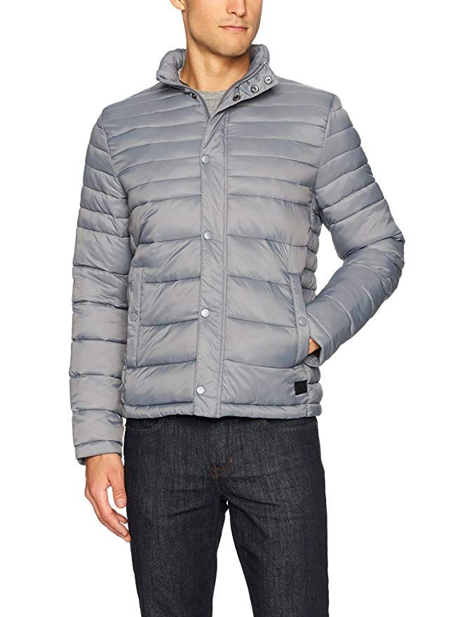 Kenneth Cole Mens Down Alternative Coat Down & Down Alternative Outdoor  Clothing