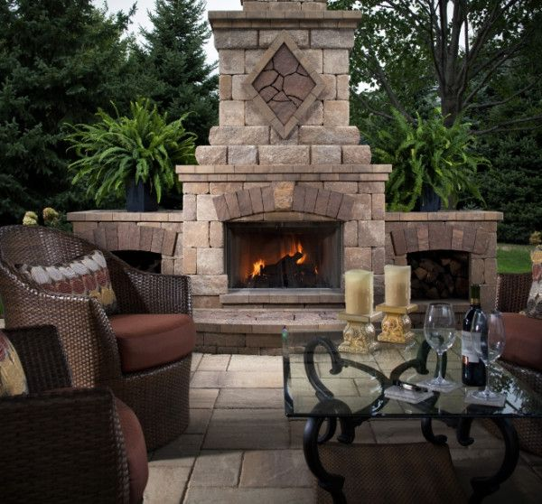 691 best outdoor fireplace pictures images on pinterest Pre fab outdoor fireplace