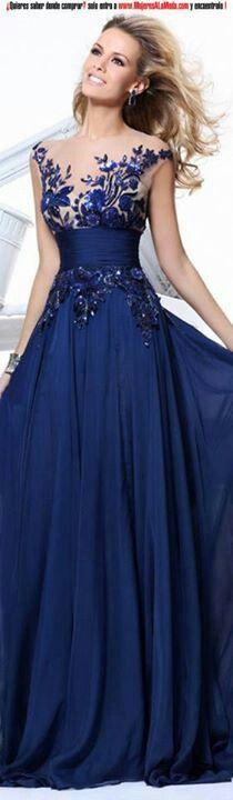 Precioso vestido de noche.