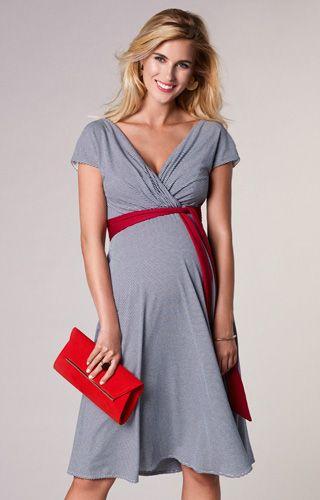 Alessandra Maternity Dress Short Cruise Stripe by Tiffany Rose