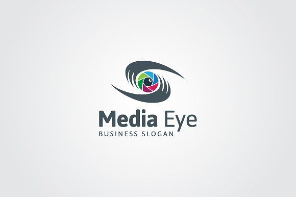 Media Eye Logo Templates -Abstract Media Eye Logo.-100 vector and editable.-Colors used are easily changeable. by maestro99