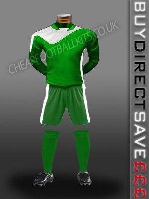Legend Discount Football Kit Green/White
