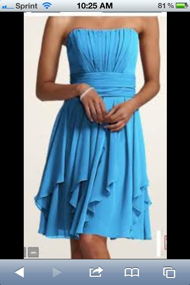 Malibu Blue Bridesmaids Dresses Weddings Dresses