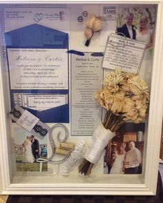 """Wedding Shadow boxes are a great way to save all your wedding moments in one place! Who's planning on doing this? #WedPics #weddingideas #weddingdiy"""