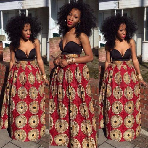 Black woman with natural hair. teamblackhurromg http://www.shorthaircutsforblackwomen.com/african-dresses/ #BlackBeautyGirls #BlackGirls