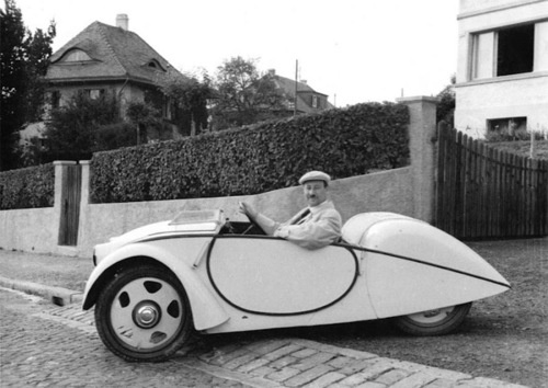 Josef Ganz in one of the Swiss Volkswagen prototypes in 1937. Very few cars have achieved the success and lasting fame of the Volkswagen Beetle. In production for 65 years and selling over 21 million units, it is the longest manufactured and most successful car in history. The Beetle was the realization of a shared vision of a group of Austro-Hungarians - Ferdinand Porsche, Hans Ledwinka, Paul Jaray, Josef Ganz and Adolf Hitler - for a cheap, modern car that was affordable for the common…