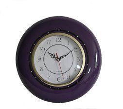Purple wall art is funky, cute and currently trendy. You can see how popular purple home wall art décor  is on home décor shows on TV, Online and even in your own community. Additionally purple wall art is truly  charming and pretty. #purple       Tuscany Ruffle Purple Hand Painted Ceramic, Wall Clock, 86092 by ACK