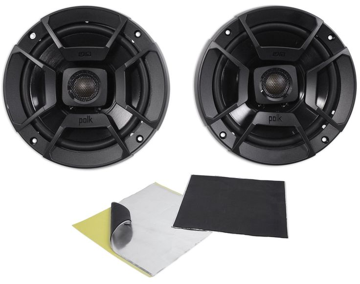 """(2) Polk Audio DB652 6.5"""" 300 Watt Car ATV/Motorcycle/Boat Speakers + Rockmat. (2) Polk Audio DB652 6.5"""" 300 Watt Car Audio Marine/ATV/Motorcycle/Boat Speakers. High performance audio upgrade that delivers signature quality sound that goes beyond OEM factory systems. Marine certified with IP65 rating (water- and dirt-resistant) and tested for salt-fog, UV and humidity. Polypropylene and UV tolerant cone with waterproof inner and outer surrounds. Simple drop-in installation for any vehicle..."""
