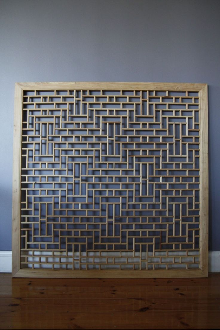 Elm Wood Lattice Chinese Panel Screen, Large - Tapestries | Interiors Online - Furniture Online & Decorating Accessories