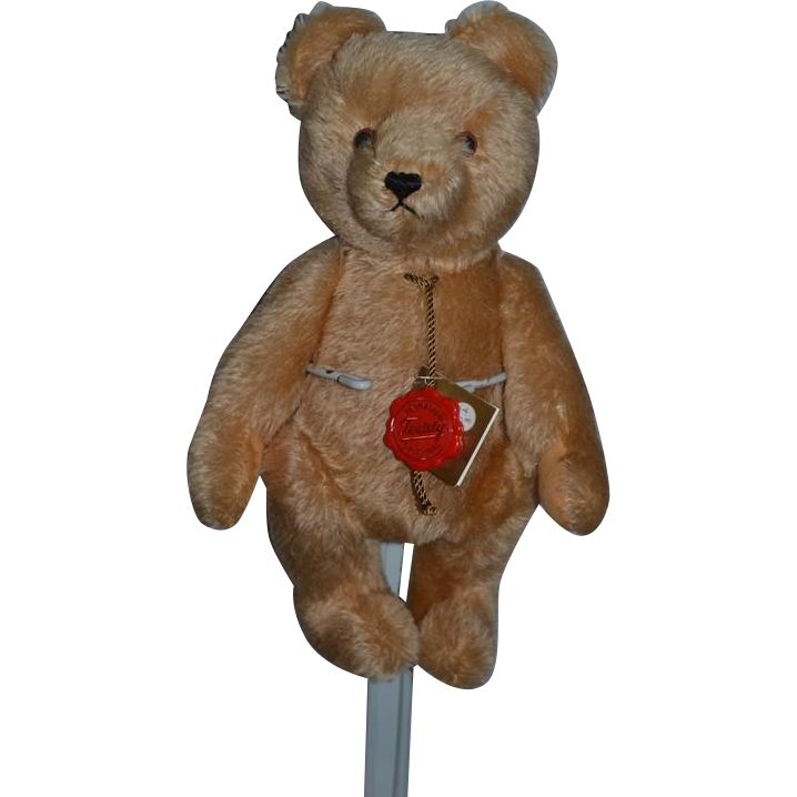 Vintage Teddy bear Hermann W/ Tag Mohair Jointed