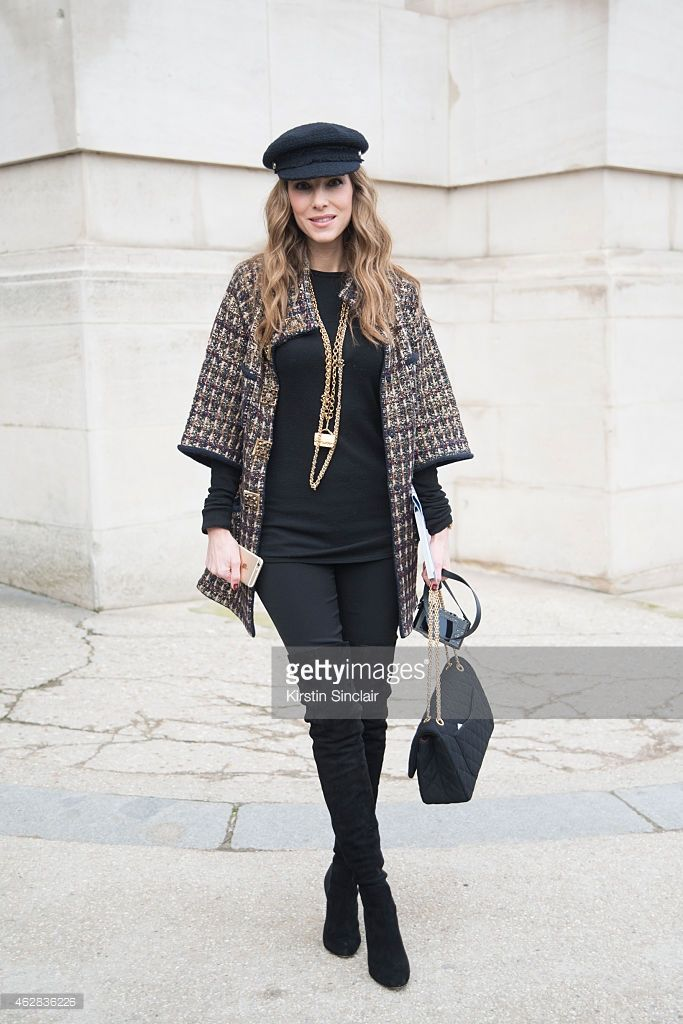 Actress Alexandra Knapp wears all Chanel on day 3 of Paris Haute Couture Fashion Week Spring/Summer 2015, on January 27, 2015 in Paris, France.