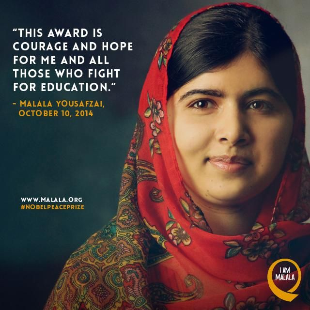 malala yousafzai no to the nobel It is nothing short of a miracle that nobel peace prize recipient malala yousafzai is still alive.