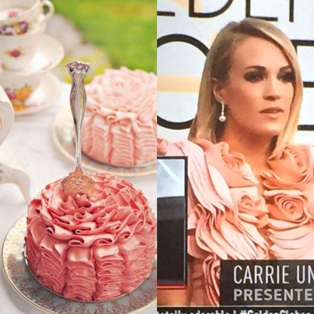 Did Carrie Underwood get her Golden Globes inspo from this picture of folded ham??