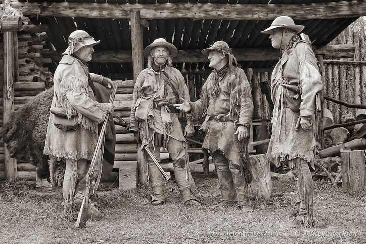 A gathering of trappers and traders at the Mountain Man Rendezvous at Historic Fort Bridger is Southern Wyoming.