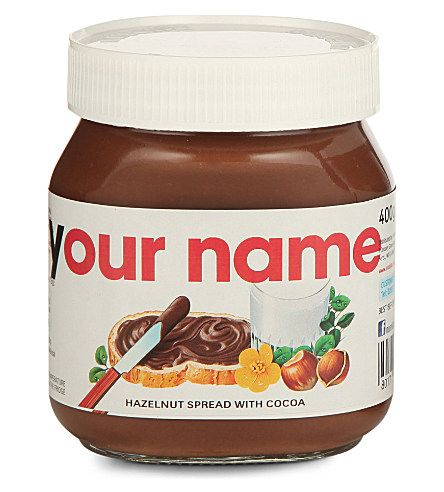 Personalised Nutella jar! Perfect for my Mama