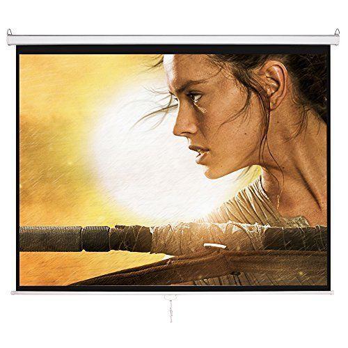 "Outdoor Movie Projector Screen 100"" HD 4:3 Wall Mounted Portable Home Theater #OutdoorMovieProjectorScreen"
