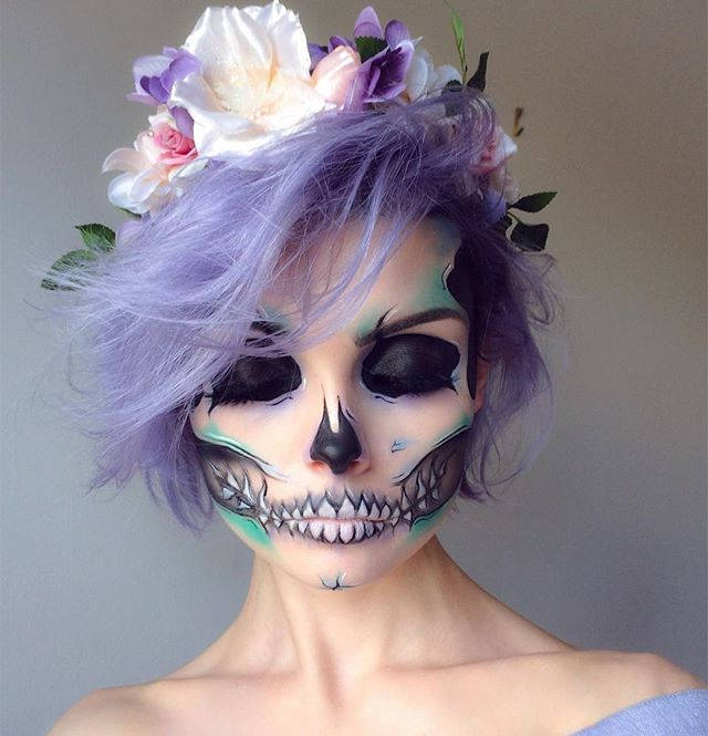 WEBSTA @ beautsoup - pastel skull  || FACE: @anastasiabeverlyhills 'Medium Brown' Dip Brow