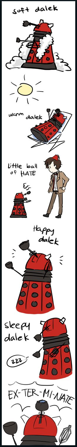 OMG. Nerddom crossover!!!: Soft Kitty, Bangs Theory, Doctors Who, Soft Dalek, Sheldon Dalek, Big Bangs, Dr. Who, Amusement Things, Dalek Version