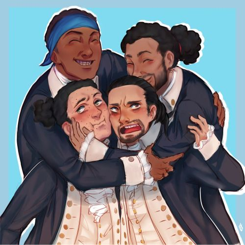 """eienflower: """" So I'm sure I ain't the only one who thought bout it but hey here we are now XD Hamilton AU! where everyone looks like the original actors and is living in the present. Sue me, it's fun XD -no please don't sue me I am broke- """""""