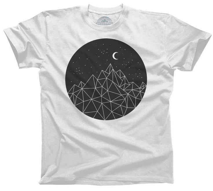 Men's Geometric T shirt, Man's Long Shirt, Grey Shirt, Geometric Hand Screen Print T-shirt, Urban Chic Cool Man's T shirt, Unique Man's Wear
