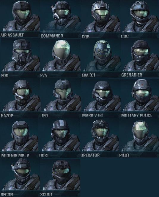 halo reach hazop   Halo Reach Operator Helmet Variants