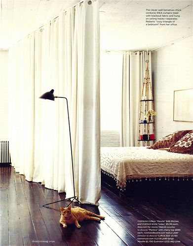 Curtain partition.