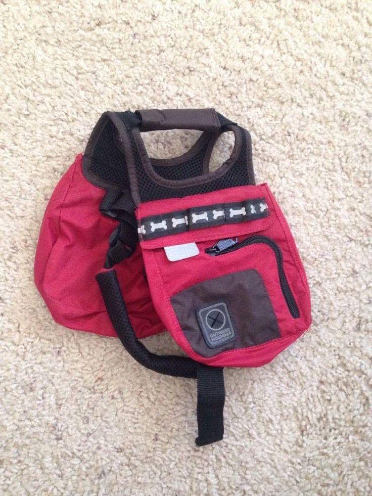 Outward Hound Dog Backpack Saddlebag Red Medium