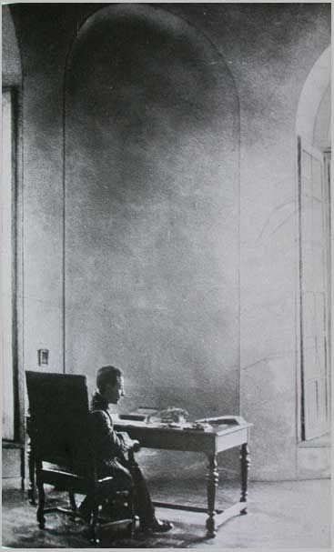 """Have patience with everything unsolved in your heart."" — Rainer Maria Rilke at work, Hotel Biron, Paris."