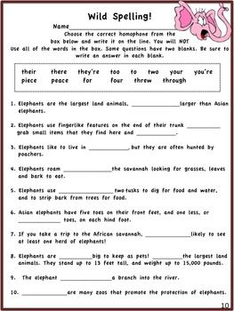 Fourth grade language arts review worksheets