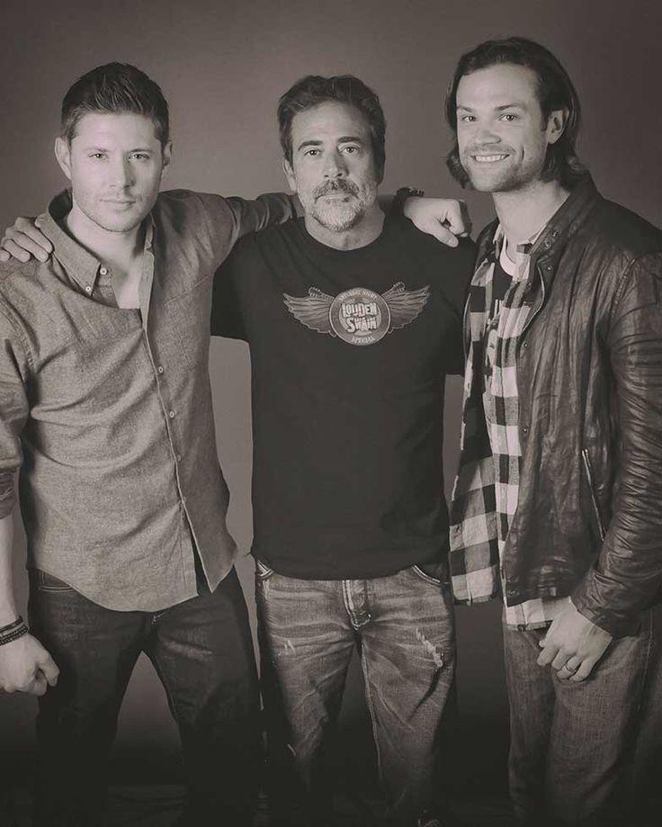 Jensen, Jeffery Dean Morgan and Jared. Aka Dad & the boys :)