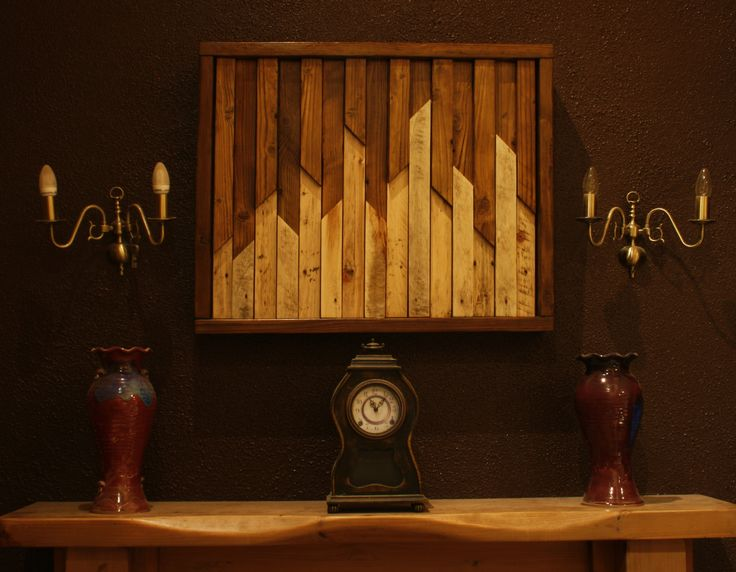 My latest little project: Wall sculpture entirely made from pallet wood. Cost practically nothing, except wood stain and varnish, but I had that in the house anyway smile emoticon