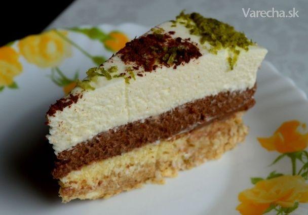 Limetkovo-čokoládová nepečená torta