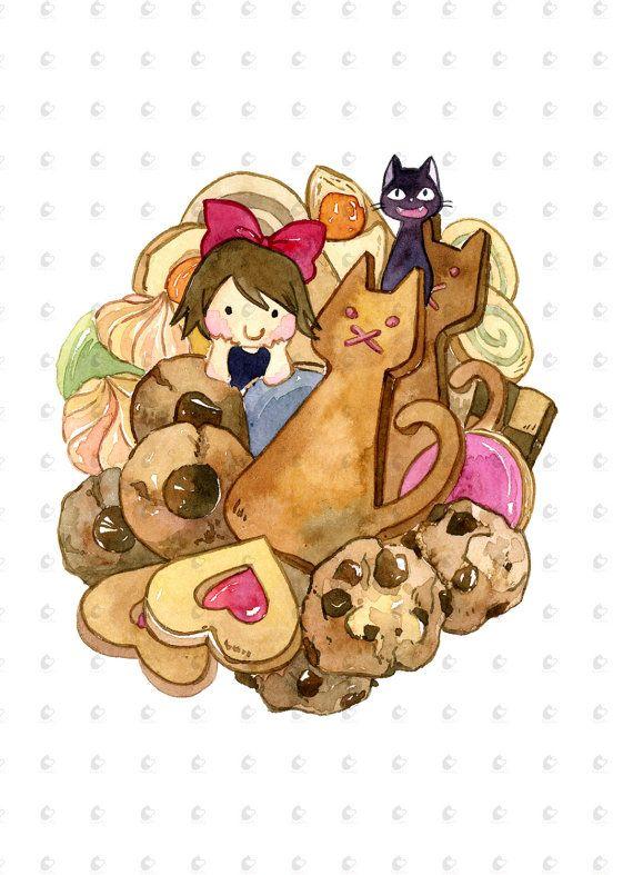 Cuisson marchandises de Studio Ghibli Kiki 5 par PenelopeLovePrints