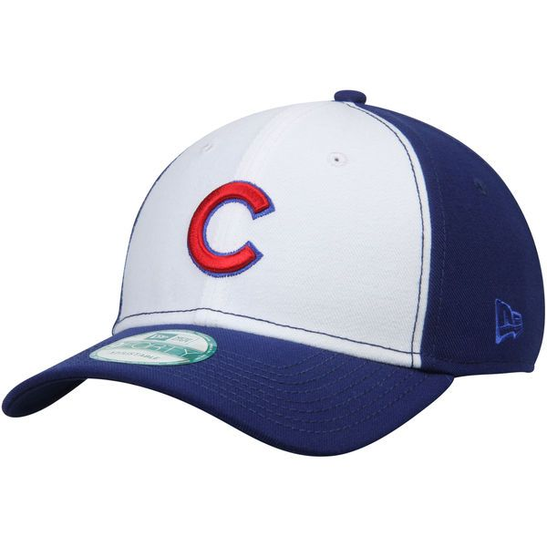 dcf351175b0 Men s Chicago Cubs New Era White Royal 2-Tone 9FORTY Adjustable Hat